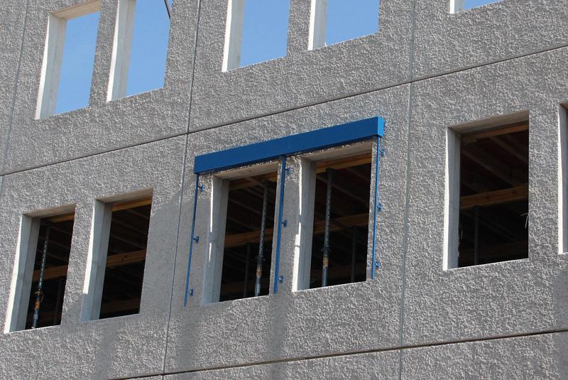 Fassade mit Matritzenschalung